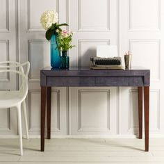 Betsy Writing Desk in Grey | Tables | Graham and Green