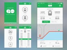 GO Transit UI Revised found on Dribbble.