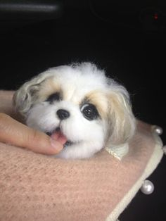 Needle wool felting of another Shih Tzu by KathycCollection