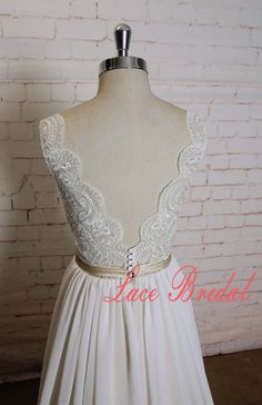 Gorgeous Lace Wedding Dress with Champagne Underlay Sexy V Back Bridal Gown with Plain Chiffon Skirt 1.As always, Custom Made(your own size, your preferred color). 2.I carefully select high-quality beads, pearls, fabrics and threads to create every dress. 3.For this style, I need:  Color: ________(Ivory overlay, champagne underlay as pictures) Height: ________ Bust: ________ Waist: ________ Hip: ________ Hollow to Floor with Wedding Shoes: ________  4. My promise: All my dresses are sold at…