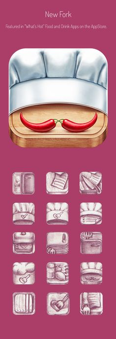 Realistic iPhone and iPad App Icons designed by http://ramotion.com