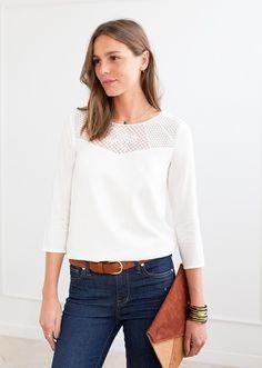 Blouse Rosette - Capsule Septembre // www.Sezane.com  #sezane #collection #capsule #septembre #rosette #blouse