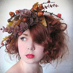 fascinator - this would be gorgeous for my Autumn Woodland Fairy look