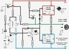 100w tip142 tip147 450x318 Amplificador simples com 100W de potência com transistor circuito audio circuito circuito amplificador