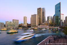 Circular Quay and Sydney City at Twilight, Sydney, New South Wales (NSW), Australia