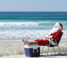 even santa likes to catch a few rays every now and then tropical