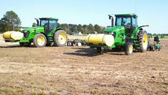 Tractor & tobacco setter & tractor & bedder