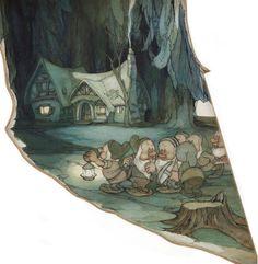 Visual Development from Snow White by Gustaf Tenggren