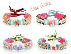 Leather rose cutie #bracelets by www.nizhoni.es