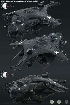 ArtStation - Heavy Fighter for Space Force, Oshanin Dmitriy