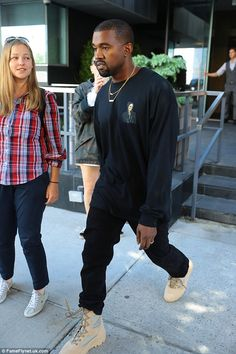 Not playing murse? Kanye West went out on his own too