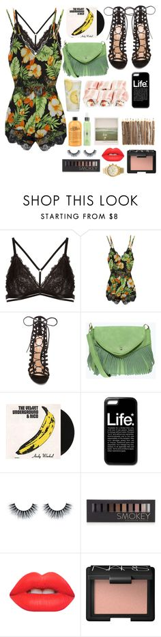 """""""Onesie"""" by stylista1 ❤ liked on Polyvore featuring Janiero, Madison Square, Gianvito Rossi, Boohoo, Nico, Martha Stewart, Polaroid, Forever 21, Lime Crime and NARS Cosmetics"""