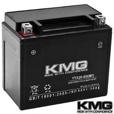 Kmg® YTX20-BS Battery For Arctic Cat ZRT 1997 - 2002 Sealed Maintenace Free 12V Battery High Performance SMF Replacement Maintenance Free Powersport Motorcycle ATV Scooter Snowmobile Watercraft KMG, Black