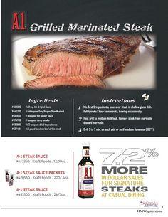 Savory A.1. Grilled Marinated Steak Recipe