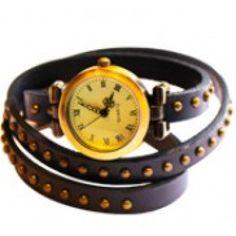 Audrey Wrap Watch Leather Bracelet Blue