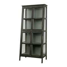 This vintage display case has a nice original design. The cabinet has 4 glass doors and glass on the front and sides. All this makes the Heritage a special piece of furniture. In this cabinet is pl Armoire Design, Vitrine Design, Cabinet Design, Decoration Design, Deco Design, Vintage Vitrine, Vintage Regal, Style Vintage, Wooden Display Cases
