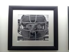 JP Arencibia. This hangs in the hallway of the luxury suites at the RogersCentre.