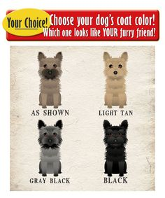 """Life is Better with a Cairn Terrier Art Print by DogsIncorporated Personalize with """"Morrie"""" and use the Gray/Black dog"""