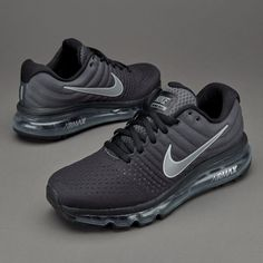 sale retailer 072b6 4a0a7 Nike Air Max 2017 Black Anthracite White Sports Running Shoes Nike Tennis  Shoes, Sneakers Nike