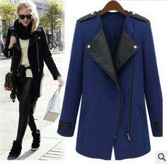 XL-5XL Plus Size Long Sleeve Turn-down Collar Zipper Trench Coat Long Trench Coat For Women Windbreaker Manteau Femme BF450 #Affiliate