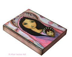 Sweet Dreams    Giclee print mounted on Wood 4 x 5 by FlorLarios, $18.00