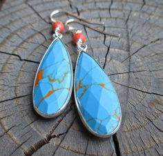 Natural Turquoise Dangles by kimhunt on Etsy, $34.00