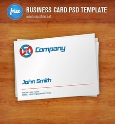 Free business card PSD template designed in clean, smart and professional style. It's a great business card template that will help you to present your compan