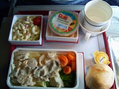 Economy class meal on China Airlines.