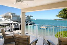 Balcony View from the Harbour Junior Suite at Pier House Resort and Caribbean Spa in Key West, Florida.