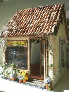 Cinderella Moments: L'Assiette de Marie Provence Stone and Stucco Cottage Dollhouse