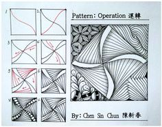 Operation ? Zentangle doodles how to Tangle: Pattern Tutorial #Tutorial #zentangle #tangle Zentangle Steps   ZenTangle Instructions /Steps /How To /Patterns / Tags: tangle zentangle zendoodle tanglepattern zentangleinspiredart