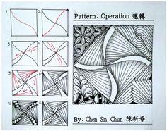 Operation ? Zentangle doodles how to Tangle: Pattern Tutorial #Tutorial #zentangle #tangle Zentangle Steps | ZenTangle Instructions /Steps /How To /Patterns / Tags: tangle zentangle zendoodle tanglepattern zentangleinspiredart