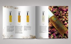 The Catalogue of Collection of Natural cosmetics by Dale Ahmadi, via Behance