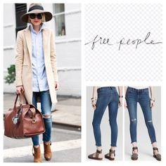 """Free People Distressed Cropped Jeans.  NWT. Free People Tupelo Wash Distressed Cropped Low Rise Jeans, 71% cotton, 28% polyester, 1% spandex, machine washable, 32"""" waist, 8.5"""" front rise, 13.75"""" back rise, 25.5"""" inseam, 11"""" leg opening all around, ripped knees, raw uneven hem, fading, copper logo hardware, five pockets, belt loops, zip fly button front closure, measurements are approx. ...No Trades... Free People Jeans Ankle & Cropped"""