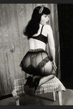 Black vintage lingerie