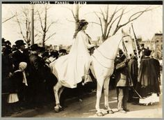 Inez Milholland Boissevain at the National American Woman Suffrage Association parade on March 3, 1913 in Washington, D.C.