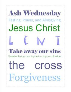 Lent Subway Art Printable for the home