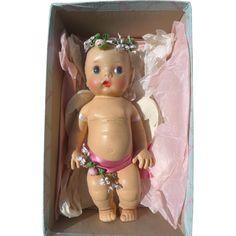 Rare HTF Madame Alexander Little Cherub in Original Box 1952 Old Dolls, Antique Dolls, Vintage Dolls, Little Valentine, Vintage Valentines, Little Cherubs, Madame Alexander Dolls, Hello Dolly, Doll Hair