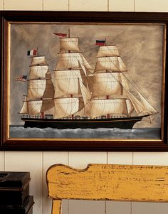 Painting of a sailing ship by watercolorist, Helen Howard,