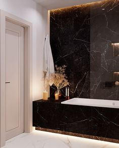 Dark Gray Bathroom, Black White Bathrooms, Wc Design, Toilet Design, Bathroom Design Inspiration, Home Decor Inspiration, Bathroom Design Luxury, Home Interior Design, Decor Home Living Room