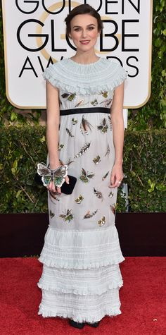 Golden Globes 2015: Red Carpet Arrivals -  Keira Knightley in Chanel #InStyle