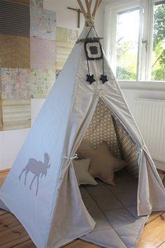 #pacztipi #pacz #teepee #tipi #wigwam #tent #deere #crochet #pillows #stars #clouds #radosnafabryka #handmade Kids Room, Toddler Bed, Room Decor, Clouds, Pillows, Cool Stuff, Stars, Crochet, Cotton