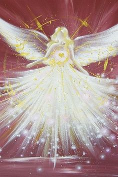 Limited angel art photo, modern angel painting, artwork, acrylics, Engelbild, moderne Engel, Bild. €10.00, via Etsy.: