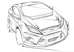 Ford Fiesta Design Sketch