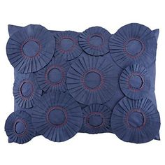 Equestrian Blue Ribbon Pillow Sham | The Land of Nod