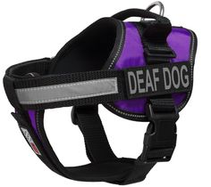 Dogline Unimax Multi-Purpose Vest Harness for Dogs and 2 Removable DEAF DOG Patches *** See this great product.