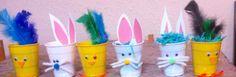 Preparando nsy  decorando el hogar para recibir la Pascua. Alumnos desde 4 a diez años a todos les encanto... X supuesto relleno de papel triturado x ellos y huevos de dulce