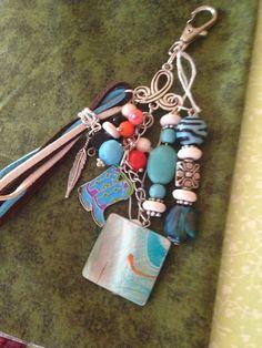 Southwest beaded key chain / zipper pull  by JansBeadCreations