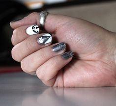 New Years nail design #tuxedos #themattestandard