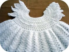 fun4all: crochet baby white frock